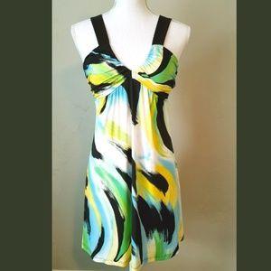 03 Everly Plant Love Mini Dress SUPER Cute! Size L